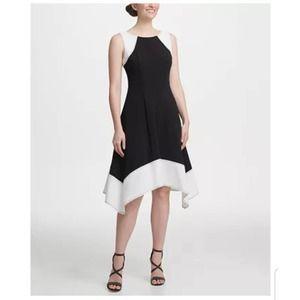 DKNY Sleeveless Colorblock A-line Dress